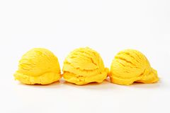 Scoops of fruit ice cream Stock Photography