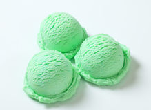 Scoops of green ice cream Royalty Free Stock Images