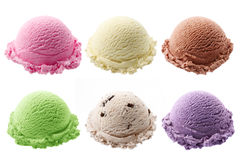 Scoops of ice cream Royalty Free Stock Images