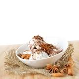 Scoops of ice cream Stock Photos