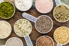 Scoops of superfood Stock Photography