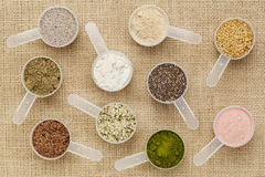 Scoops of superfood Stock Photos