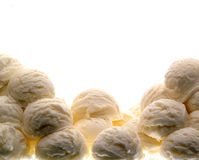 Scoops of vanilla ice cream Royalty Free Stock Photo