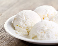 Scoops of vanilla ice cream Stock Image