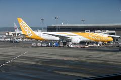 Scoot Dreamliner Stock Photography