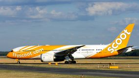 Free Scoot Jet On Berlin Tegel Runway, TXL Stock Photography - 125165822