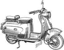 scooter-001 Royalty Free Stock Image
