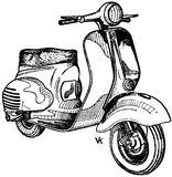 scooter-003 Royalty Free Stock Photography