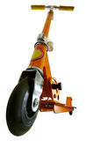 Scooter. Wide angle shot of scooter isolated with clipping path Royalty Free Stock Images