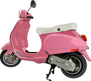 Scooter. Pink scooter on white background royalty free illustration