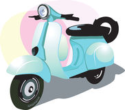 Scooter. In the multi- coloured back ground Royalty Free Stock Photos