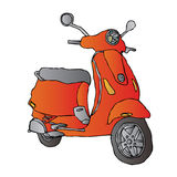 Scooter. A classic red scooter illustration vector illustration