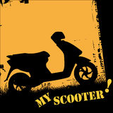 Scooter. Vector illustration of a scooter Stock Images