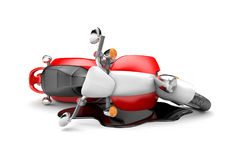 Scooter accident Royalty Free Stock Photo