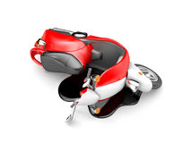 Scooter accident Stock Photography