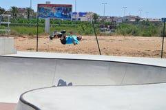 Scooter Back-Flip stock photos