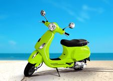 Scooter at The Beach. With Blue Sky Royalty Free Stock Image