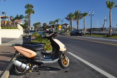 Scooter at the Beach Road - A1A Royalty Free Stock Photography
