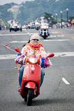 Scooter bij de Donder van Rolling, Washington, gelijkstroom Royalty-vrije Stock Fotografie