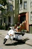 Scooter blanc Images libres de droits