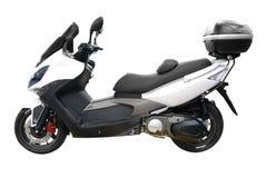 Scooter blanc de ville avec le joncteur réseau Images libres de droits