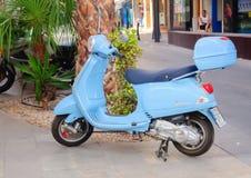 Scooter bleu Photo stock