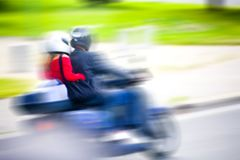 Scooter blur Stock Photography