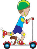 Scooter Boy Royalty Free Stock Photos