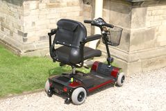 Scooter. buggy. buggy for disabled, elderly, or senior people Stock Photos
