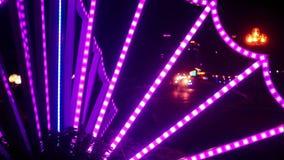 Scooter Car Night Traffic along City Street in Vietnam stock video