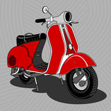 Scooter. Carrello.01 Royalty Free Stock Images