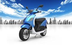 Scooter and city Stock Images