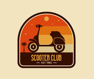 Scooter Club Badge or Emblem Royalty Free Stock Photo