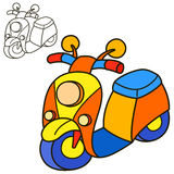 Scooter. Coloring Book Page Stock Photo