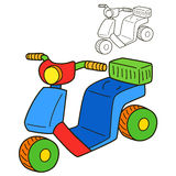 Scooter. Coloring book page Royalty Free Stock Photography