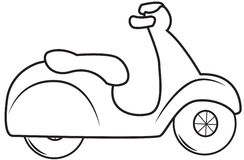 Scooter coloring page Stock Photo