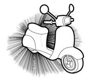 Scooter creative design Stock Images
