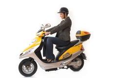 Scooter d'équitation de femme Images stock
