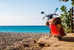 Scooter de Cullman à la plage de Varadero Photographie stock libre de droits