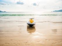 Scooter de l'eau sur la plage Images stock