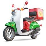 Scooter de la livraison express de pizza dans le style iatalian Image stock