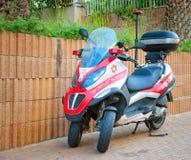 Scooter de médecin Piaggio MP3 en Israël Images stock