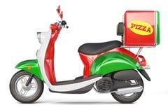Scooter de pizza de la livraison dans le style iatalian Photographie stock libre de droits
