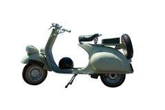 Scooter de vespa de cru (chemin compris) Images libres de droits