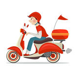 Scooter delivery icon Stock Photo