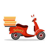 Scooter delivery poster Stock Photos