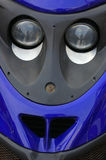 Scooter Detail 02. Detail of a motor-scooter giving an indication of a humerous face royalty free stock photos