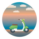 Scooter Detailed Illustration Stock Photos