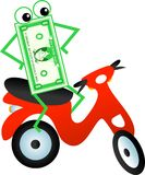 Scooter dollar Stock Photos