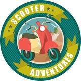 Scooter emblem Stock Photos